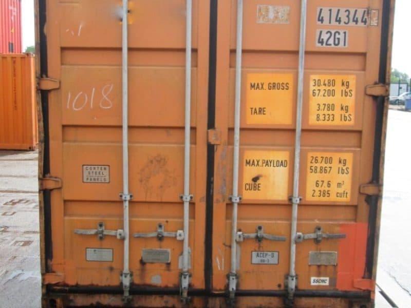 40 футовый контейнер