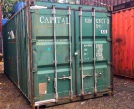 20 футовый контейнер, Б/У ( в заводской краске)
