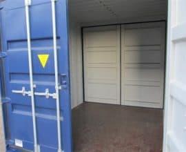 Морской контейнер 10 футов Double Door (10′ DD) c дополнительными торцевыми дверями, б/у