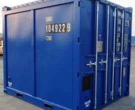 Морской контейнер 10 футов Open Top (10′ OT) стандартный открытый с березентовой крышей, б/у