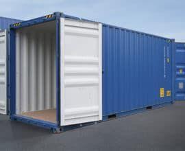 Морской контейнер 20 футов высокий High Cube Double Dour (20′ HCDD) с дополнительными торцевыми дверями, новый