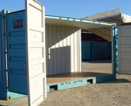 Морской контейнер 20 футов High Cube Side Door с дополнительными боковыми дверями (20′ HCSD), Б/У
