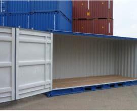Морской контейнер 20 футов High Cube Side Door с дополнительными боковыми дверями (20′ HCSD)