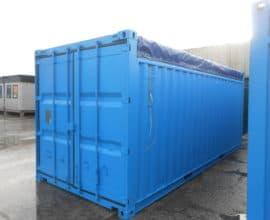 Морской контейнер 20 футов Open Top (20′ OT) с с брезентовым верхом, б/у