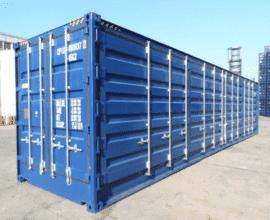 Б/у морской контейнер высокий 40 футов High Cube Hard Top (40′ HCHT) с жесткой съемной крышей
