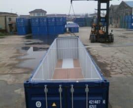 Морской контейнер 40 футов Hard Top (40′ HT) с жесткой съемной крышей, новый
