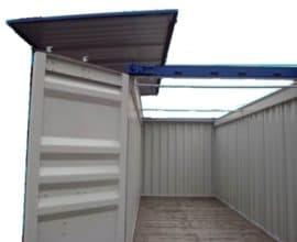 Морской контейнер высокий 40 футов High Cube Hard Top (40′ HCHT) с жесткой съемной крышей, новый