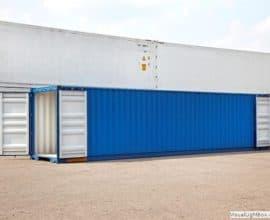 Морской контейнер 45 футов High Cube Double Door (45′ HCDD) высокий контейнер с дополнительными торцевыми дверями, б/у
