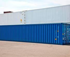 Морской контейнер 45 футов High Cube Pallet Wide (45′ HCPW) высокий и широкий, б/у