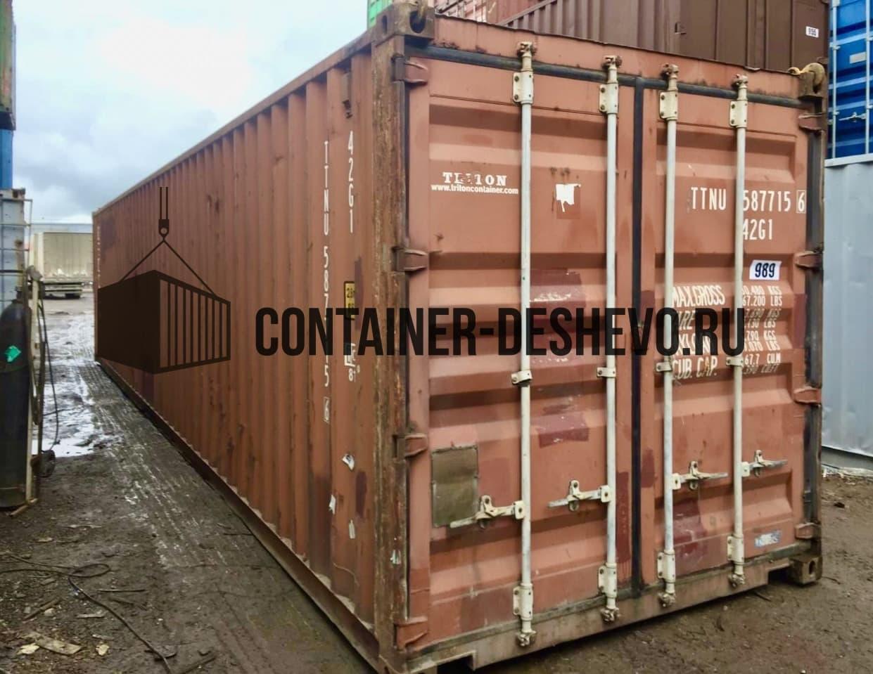Морской контейнер 40 футов б/у (989) фото