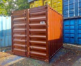 Морской контейнер 10 футов  (10′ DC) стандартный, б/у