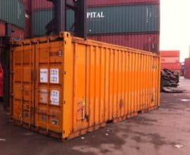 Морской контейнер 20 футов Hard Open Top (20′ HOT) с съемной жесткой крышкой, б/у