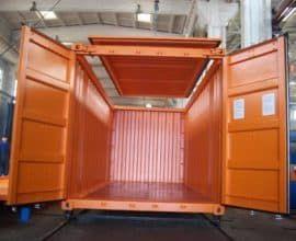Морской контейнер 20 футов Hard Open Top (20′ HOT) с съемной жесткой крышкой