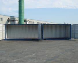 Морской контейнер 40 футов High Cube Open Side (40′ HCOS) высокий с дополнительными боковыми дверями, новый