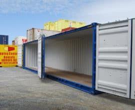 Морской контейнер 40 футов Side Door (40′ SD) с дополнительными боковыми дверями, новый