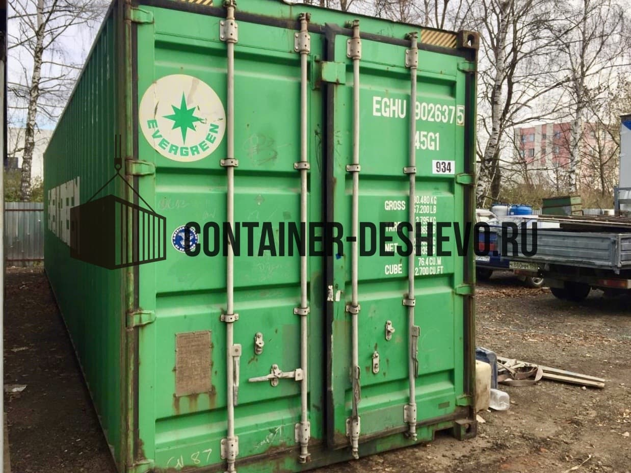 Морской контейнер 40 футов БУ (934) фото