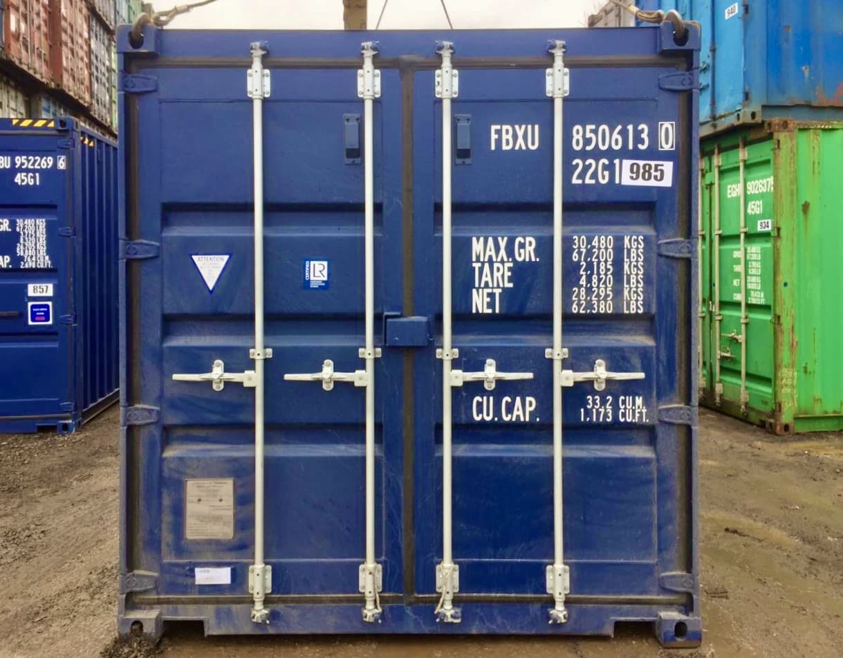 20-футовый контейнер б/у фото