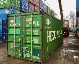 На что нужно поставить морской контейнер после покупки?
