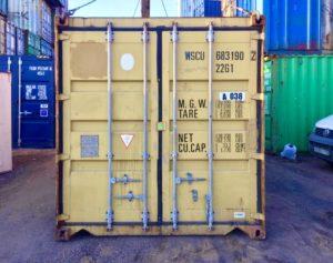 Табличка на торцевой части контейнера
