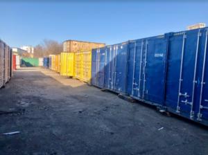 Установка контейнеров на деревянный брус ajnj